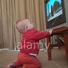 TA17.18 m581 / Choice 6 of 7 /A2PBXA Young child in front of television tv. Image shot 2006. Exact date unknown.