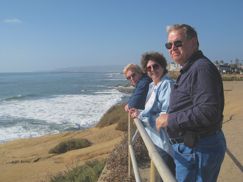 John, Wendy, and Mary Ann along the San Diego Coastline