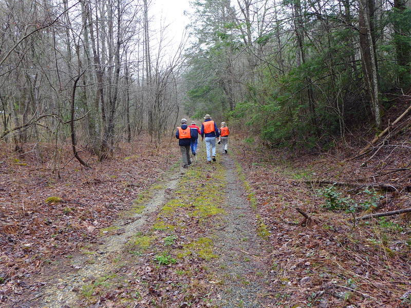 The group of 4 folks out to document what's left of this old road