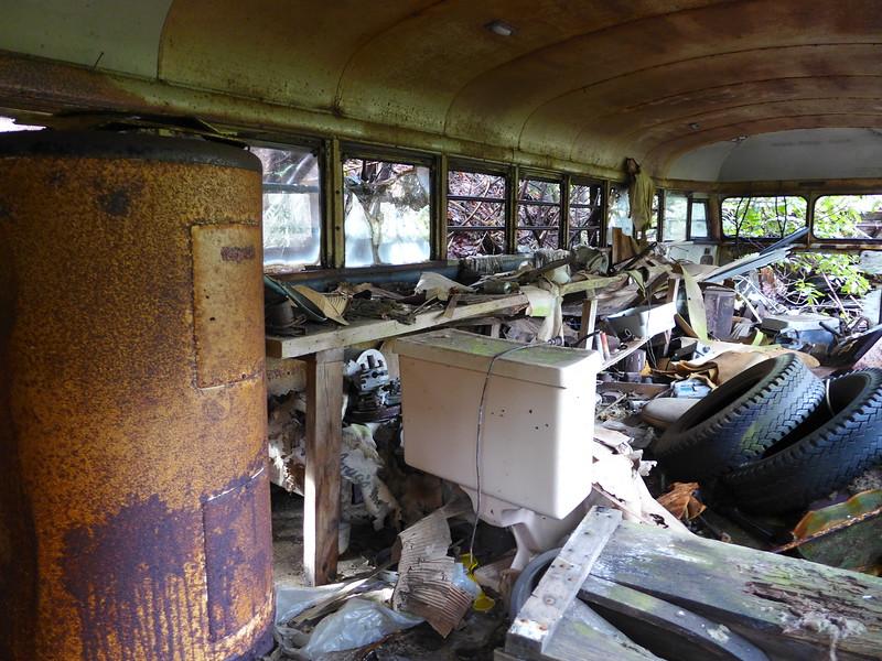A peek inside the bus