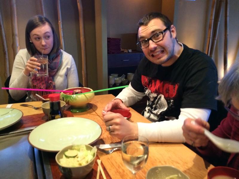 At Takumi for dinner.   Scorpion Bowl!