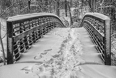 The snowy Foot Bridge