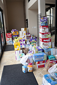 just some of the supplies donated.