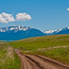 A quick look at the Wallowa's from Ant Flat Road