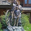 """The Promise Land"" sculpture by David Manuel on Main Street in Joseph< Oregon.  Photo taken by my wife, Dicksie, with her Sony V3"