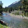 The Lostine River and its steep canyon drains a large portion of the Wallowa Mountains.