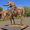 """Amazing Grace"" Cowboy , bronze cast by Manuel in Joseph, OR"
