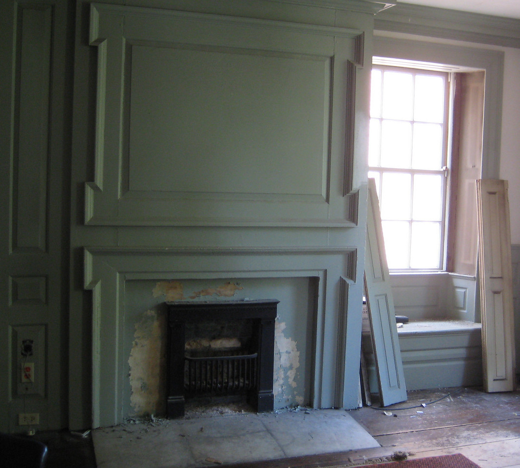 The fireplace in George Washington's bedroom