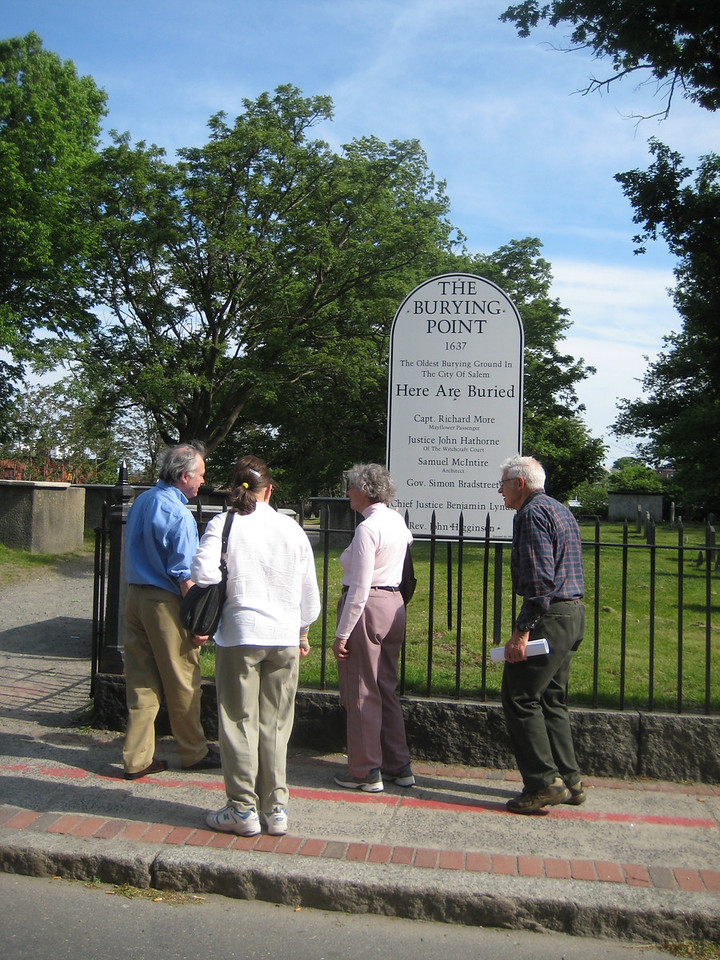 Bob continued to lead us on an engaging tour of Salem's past.  He wanted to show us the tombstones for Ward ancestors.