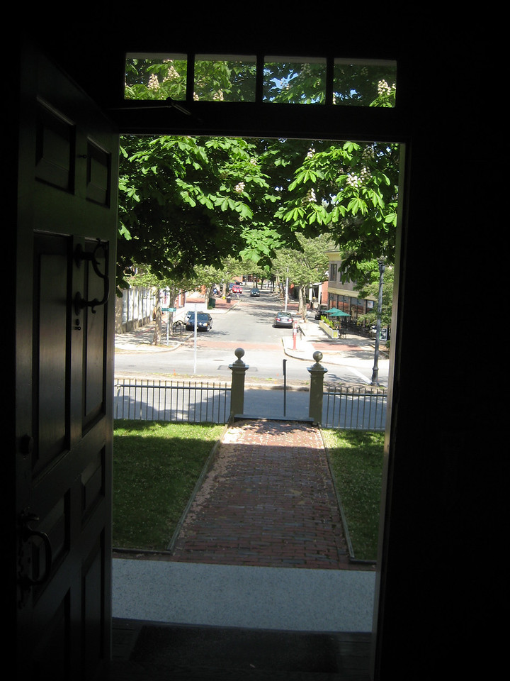 View out the door of 148 Washington St, Salem. May 2009.