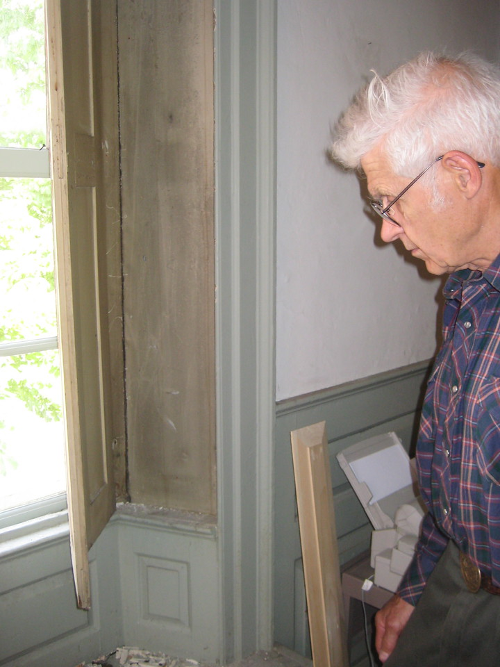 Bruce, who restores old buildings for the US Forest Service, was especially interested in the woodworking.