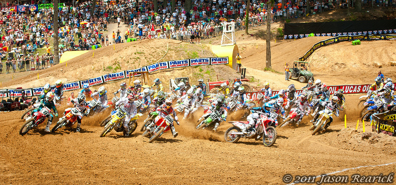 June 18th,  The fasted motocross racers in the world hit the first turn at Budds Creek, MD for the AMA Motocross Nationals.