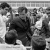 """Ted Kennedy"", Photographed opening the first Special Children Olympics at Cole Field House University of Maryland."