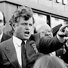 "Senator Ted Kennedy,""Taking it to the Streets"", Campaigning in Bough Park, Brooklyn, New York."