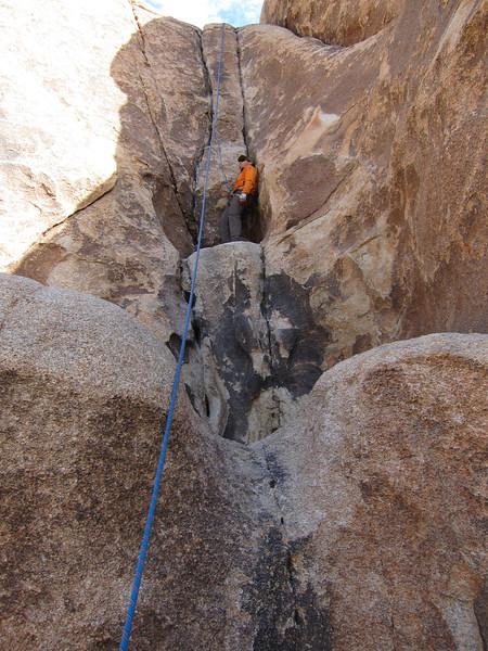 Honnolding on Trashcan Rock. Photo by Trevor Hayton