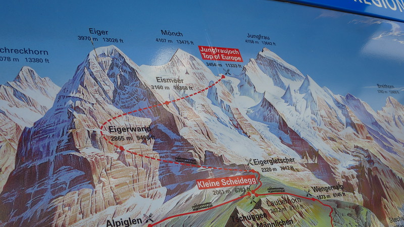 no restaurant at the top of Eiger?