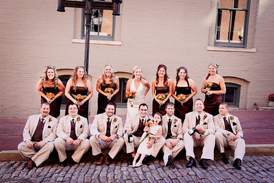 All Wedding Party on Street-