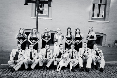 All Wedding Party on Street bw-