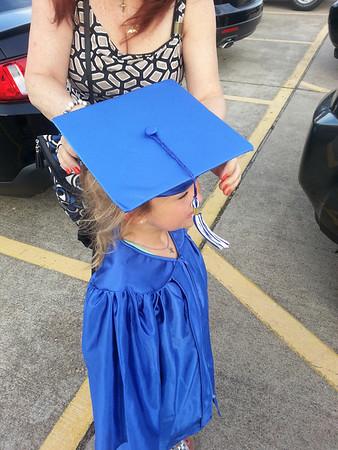Julia pre K graduation and Charlie Maggie high school 2014