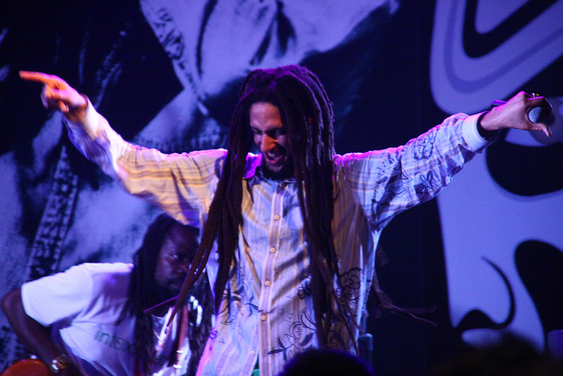Julian Marley performs at Star Live in Beijing.