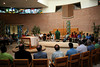 Participants celebrated the closing Mass in a circle around the altar.