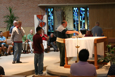During Thursday's morning prayer participants did an exercise of forgiveness and healing.