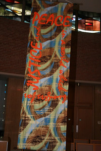 One of the four banners