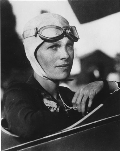 . FILE - This undated file photo shows Amelia Earhart.  (AP Photo/File)
