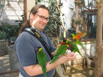 Me with lorikeets