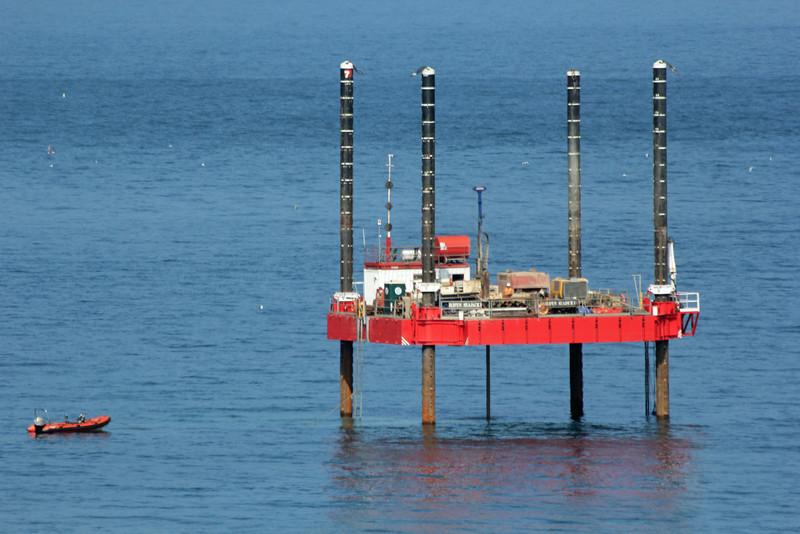 Drilling Rig Nigg Bay Aberdeen 19th July 2013