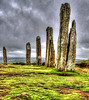 Standing stones at Ring of Brodgar in Orkney