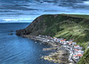 Crovie at the foot of the cliffs near Gardenstown on Monday 25th July