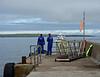 The Pentland Venture approaches John O'Groats harbour.