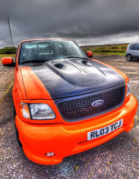 Ford pickup in John O'Groats car park
