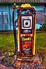 Disused petrol pump in Brora, Sutherland