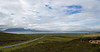 The view over Scapa Flow to the island of Hoy in Orkney.