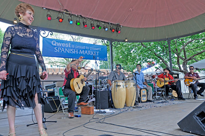 Cielo performes onstage at the 59th annual Spanish Market on the Santa Fe Plaza on Sunday, July 25, 2010. Katharine Egli/The New Mexican