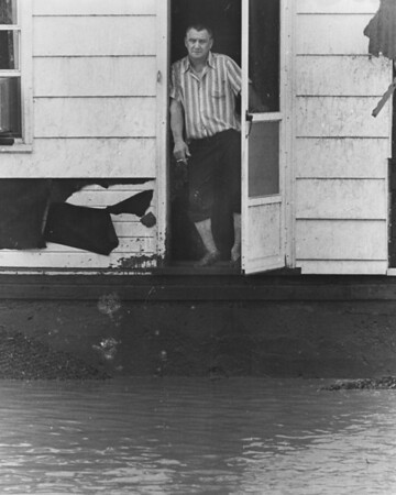 Hornerstown section of Johnstown on July 20, 1977. Man in door in unknown.