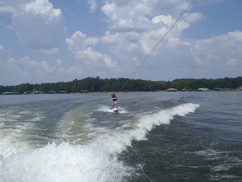 Zane's first wakeboarding.  He got up his first time! July 2, 2011