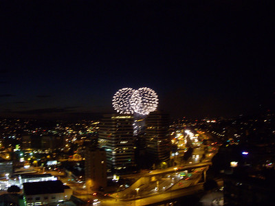Fireworks as seen from my balcony.