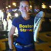 Melissa Lawler Jaynes carrying the Baton on the last leg of the California to Boston relay. She is graduate of Frankton High School and Depauw University.<br /> <br /> Photographer's Name: Donald  Hays<br /> Photographer's City and State: Anderson, IN