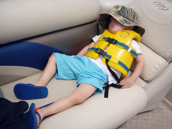My nephew asleep on the boat in Monticello this past weekend. <br /> <br /> Photographer's Name: Shaley Passmore<br /> Photographer's City and State: Anderson, Ind.