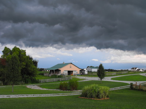 """""""Summer Storm"""" My barn,,, Richland Twd.<br /> <br /> Photographer's Name: J. R. Rosencrans<br /> Photographer's City and State: Alexandria, IN"""