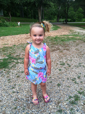 Branlin McCoy, daughter of Molly & Brandon McCoy, enjoying a nice summer stroll. Anderson, IN<br /> <br /> Photographer's Name: Molly McCoy<br /> Photographer's City and State: Anderson, IN