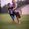 Dawson and Tristan playing tag, waiting for the show.<br /> <br /> Photographer's Name: Terry Lynn Ayers<br /> Photographer's City and State: anderson, IN
