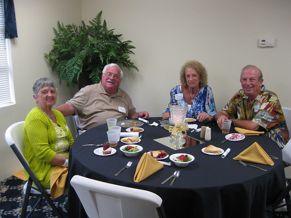 Tom Reed of Columbus and Toni and Steve Shoemaker of Ft. Myers, Fla., attended the reunion of the Daleville Class of 1963. Mrs. Shoemaker taught at Anderson High School for several years.<br /> <br /> Photographer's Name: Ella Reff<br /> Photographer's City and State: Muncie, Ind.