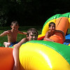Nolan and Avery Jarvis and their buddy Braden Allen know how to beat the heat with the giant slip-n-slide at Angela Johnson's home :)<br /> <br /> Photographer's Name: Molly McCoy<br /> Photographer's City and State: Anderson, Ind.