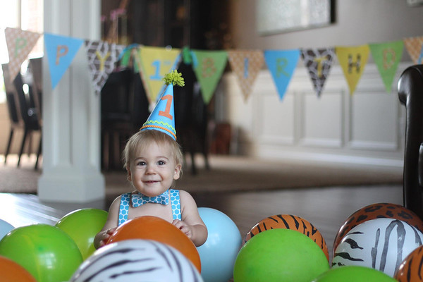 My grandson, Clayton Adams, from Huntertown, Ind., on his first birthday!<br /> <br /> Photographer's Name: Diana Adams<br /> Photographer's City and State: Frankton, Ind.