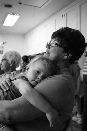 Ansley Kirby getting a hug from her grandma Gloria Jones<br /> <br /> Photographer's Name: Morgan Elbert<br /> Photographer's City and State: Alexandria, IN