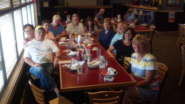 This is the last official 40th reunion planning committee meeting for the Madison Heights class of 1973.   Their reunion will be held Saturday, July 20, at Rigo's.<br /> <br /> Photographer's Name: Patty Kestner<br /> Photographer's City and State: Anderson, IN